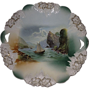 R. S. Prussia Old Man in the Mountain Cake Plate