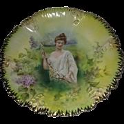 R. S. Prussia Spring Season Portrait Plate