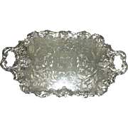 19th C Butler's Tray, Sheffield Plate, James Dickson & Sons