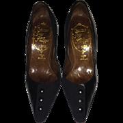 1950's-1960's Guy Philippe Black Kid & Suede Heels