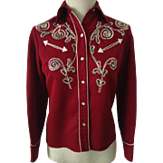1970s H BAR C Woman's Western Wear Shirt