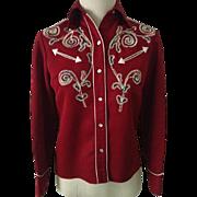 1970s H BAR C Woman's Western Wear Shirt