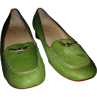 Kate Spade Pony Hair Moccasin-Style Low Heels 10B