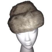 1960s Silver Mink Hat by Mr. Henri N.Y.