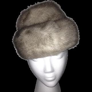1960s Silver Mink Hat by Mr. Henri N.Y.