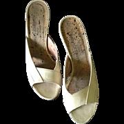 1980s Charles Jourdan High Heel Slides