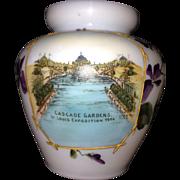 1904 St. Louis Exposition Souvenir Art Glass Vase; Rare