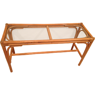 Palm Beach Regency Rattan Console Table