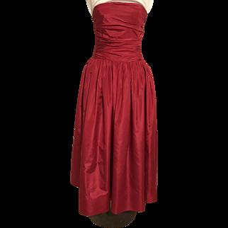 Oscar De La Renta – Saks Fifth Avenue Raspberry Red Gown