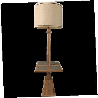 A. Brandt Ranch Oak 1960's Combo Floor--Table Lamp