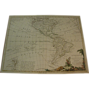 Antonio Zatta's 1776 Western Hemisphere of the America's Map.