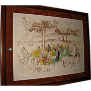 LeRoy Neiman Artist Proof -- Ascot Paddock
