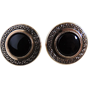 Cufflinks Black Onyx Gold Filled  c1960's