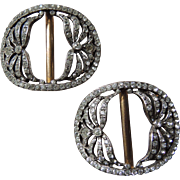 Rhinestone Shoe Buckles Shoe Clips Art Deco c1920's