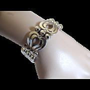 Mexican Sterling Bracelet Signed Emma c1960's