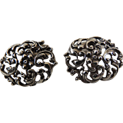 Art Nouveau Cufflinks 800 Silver Hallmarked Double Sided Early 1900's