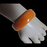 Bakelite Bracelet Pumpkin Orange Bangle