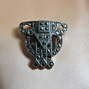 Sparkly Deco Marcasite Dress Clip