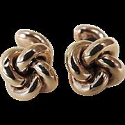 Edwardian Cufflinks 10 Karat Gold Knotted Design