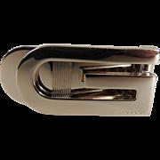 Gucci Logo Money Clip G Gold Tone Italy c1980's