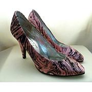 Charles Jourdan Shoes Silk Heels Size 5B