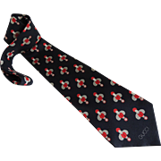Gucci Tie Necktie Silk Vintage c1980's