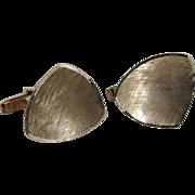 Cufflinks 18K Gold Etched c1970's