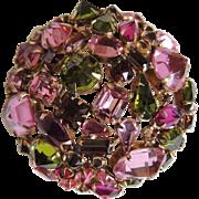Majestic Schreiner Rhinestone Pin