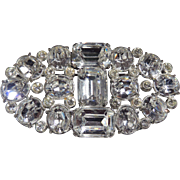 Magnificent Art Deco Rhinestone Pin c1920's