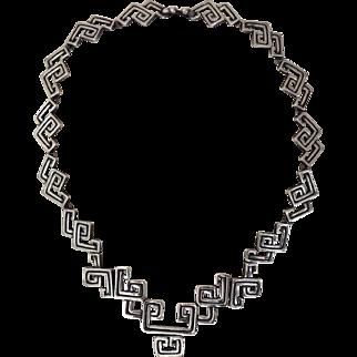Los Castillo Sterling Silver Necklace Taxco Mex 773 c1955-1970