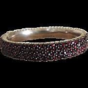 Victorian Garnet Bangle Bracelet