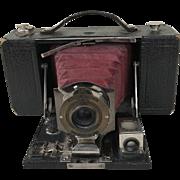 Kodak #2 Folding Brownie Camera with Burgundy Bellows