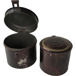 Toleware tin nesting canisters