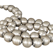 Sigi Pineda classy Mexican sterling silver brushed bead Necklace
