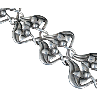 rare Jose Luis Flores for Miguel Mexican silver Bracelet ~ Taxco sterling in the Scandinavian style