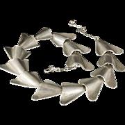 vintage Burg sterling silver modernist Necklace ~ stunning mid century design