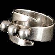 vintage David Andersen Norway sterling silver modernist Ring ~ adjustable