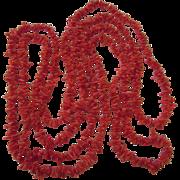 "Vintage 72"" Branch Coral Rope Necklace"