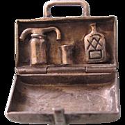 Scarce Vintage Sterling Silver Mechanical OH-BOY Travelling Liquor Case 3-D Charm