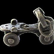 Vintage Sterling Silver Roller Skate 3-D Charm