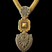Vintage Signed Ronnie Livia Fabulous Gothic Revival Necklace