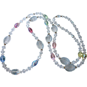 """Heavenly Pastel 42"""" Crystal Rope Necklace"""