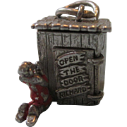 Rare Open the Door Richard Sterling Outhouse Charm - Red Tag Sale Item