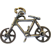 Vintage Sterling Moveable 3-D Mechanical Bicycle Charm - Red Tag Sale Item