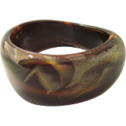 Runway Bold Lucite Marbled Asymmetric Bangle