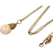 """Vintage Gold Filled Floating Opal With 16"""" GF Chain"""