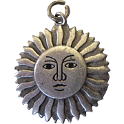 Vintage Sterling Silver Virgin Islands Daisy Flower Sun Travel Charm - Red Tag Sale Item