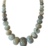 Bold Vintage Graduated Opaque Australian Opal Bead Necklace