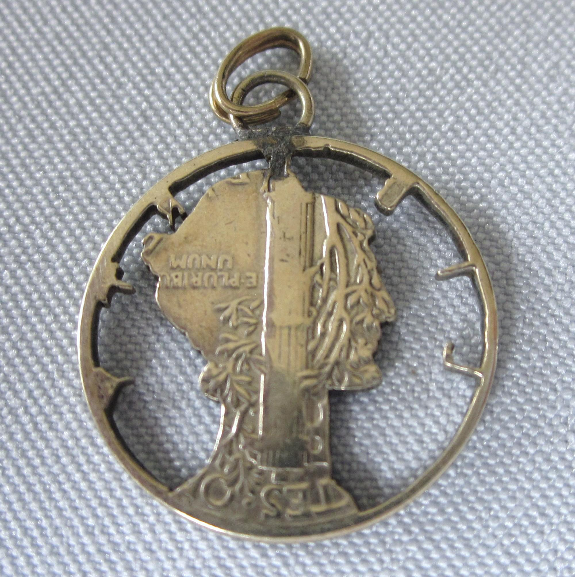 haircut san diego 1944 mercury liberty dime cut out charm pendant from 1560