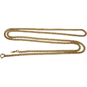 "Elegant Vintage Gold Filled Curb Link 24-1/2"" Chain Necklace"